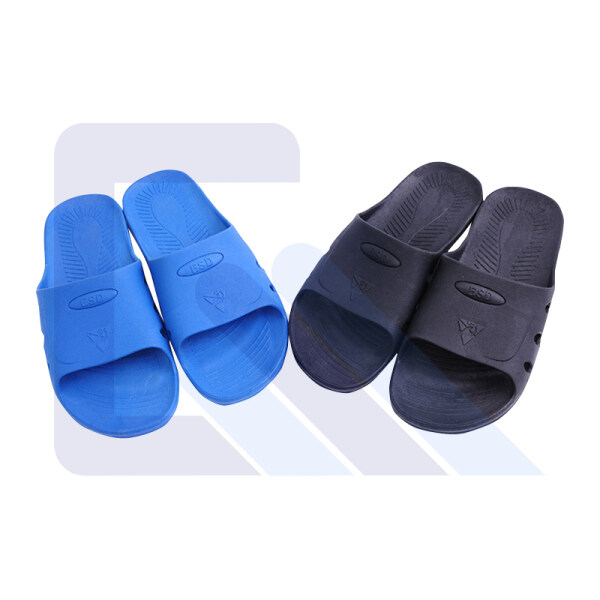 Blue/Black SPU antistatic slipper one take Six holes esd slipper for clean room
