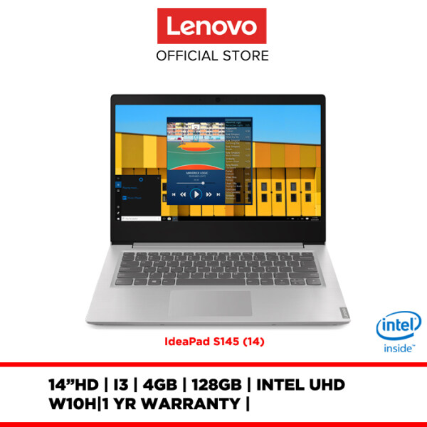 Lenovo Notebook Laptop IdeaPad S145-14IKB 81VB0018MJ 14 HD/I3/4GB/128GB/INTEL UHD/W10H/1YR WARRANTY Malaysia