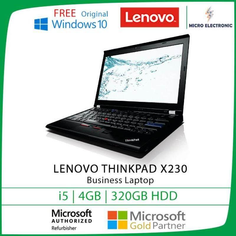 Lenovo Thinkpad X230 Business Laptop 12.5 HD Intel Core I5 4GB 320GB HDD Windows 10 Refurbished PC Computer Digital Electronics Malaysia