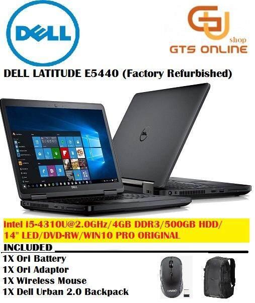Dell Latitude E5440 INTEL i5-4310U 4th Generation / 4GB DDR3 RAM / 500GB HDD / 14inch LED / Windows 10 PRO (Factory Refurbished) Malaysia