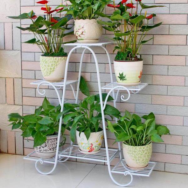 6 Layer Multi Storey Flower Rack Flower Stand Green Balcony Living Room Flower Pots(76*23*73cm)