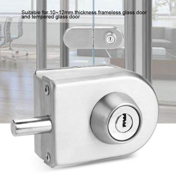 10 ~ 12mm Thép không gỉ Khóa Cửa Kính với Chìa Khóa Mở/Đóng Nhà Khách Sạn Phòng Tắm Sử Dụng