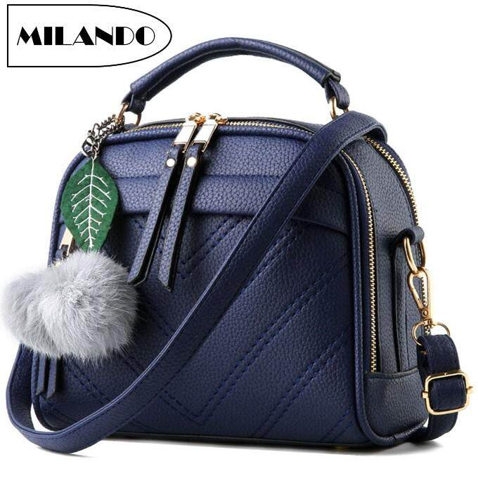 499dc5c7c0f MILANDO Women Ladies Elegant Design Leather Dinner Handbag Cross Body Sling  Bag Handbeg Wanita (Type 3)
