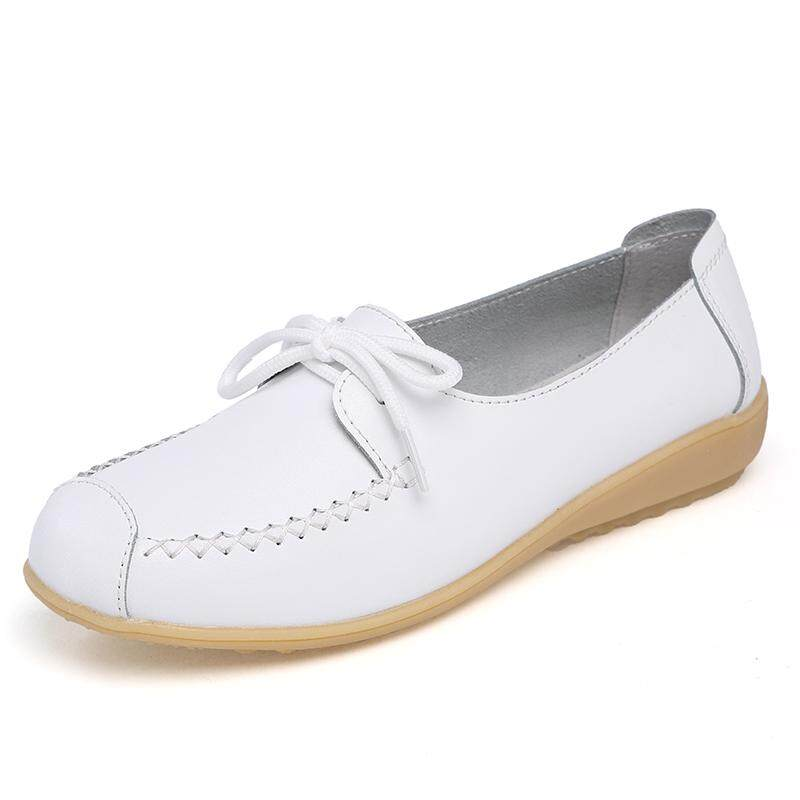 cae188cb4fc9 Product details of Genuine Leather Shoes Women Ballet Flats Loafers Summer  Moccasins Ladies Slip On Casual Flat Shoes Ballerina Flats