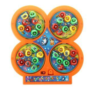 Random Color Go Fishing Game Electric Rotating Magnetic Magnet Fish Toy Kid Educational Toys thumbnail