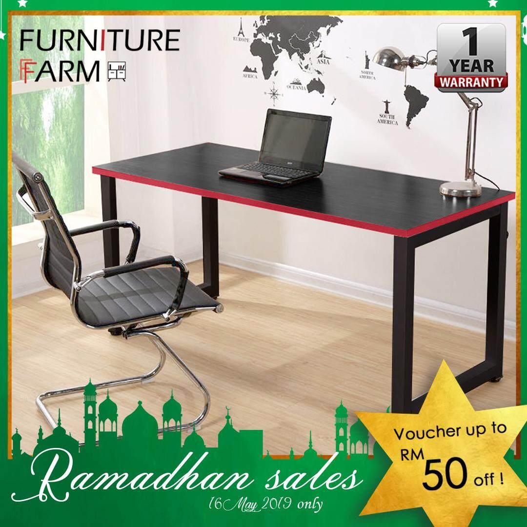 Simple Stylish Computer Gaming Dark Wooden Desk / Computer PC Desk Table /  Gaming Table / Meja Gaming / Destop table Malaysia