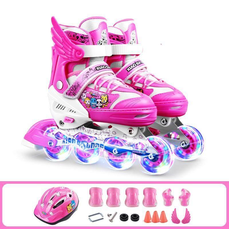 Phân phối Ván Trượt Trẻ Em Toàn Bộ Nam Nữ Người Mới Bắt Đầu Nội Tuyến Bánh Lăn Flash Stinger 5.2 Điều Chỉnh Inline Skate