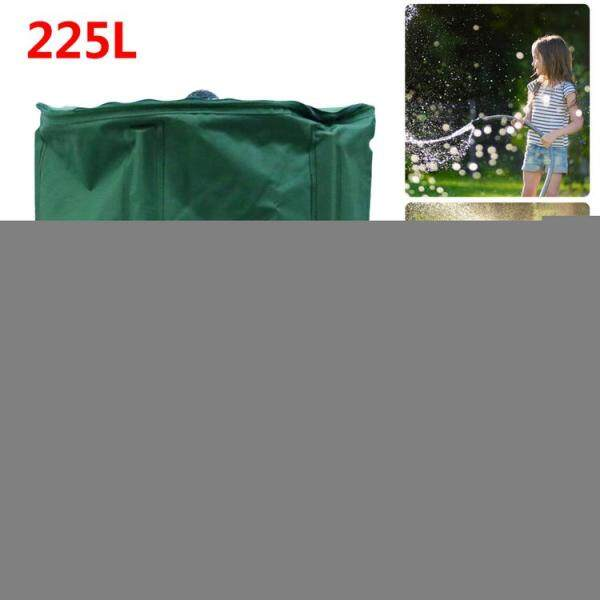 KL 225L Collapsible Rain Barrel Portable Water Storage Bucket Rainwater Collection System Downspout Water Catcher Container with Filter Spigot Overflow Kit