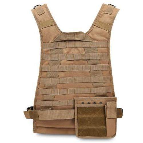 Outdoor Molle Amphibious Module Combat Tactical Vest (camel Brown) By Mrepublic.
