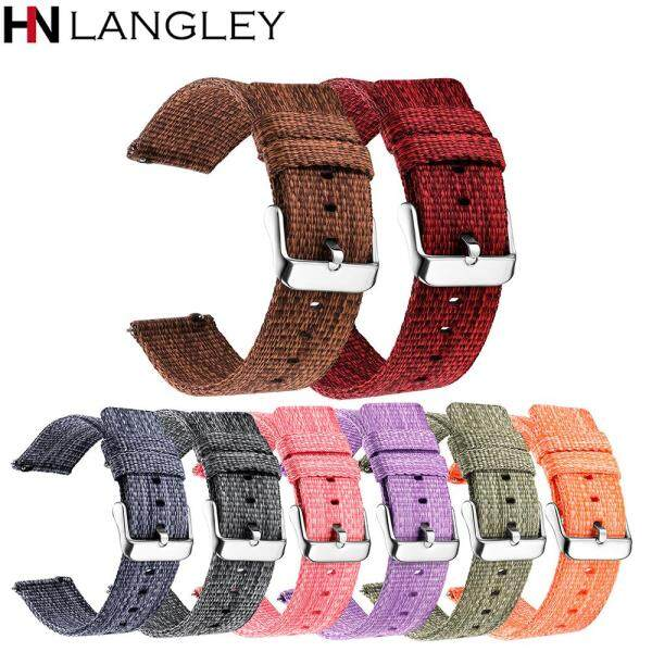 18/20/22/24mm Width Universal Quick Release Watch Band General Common Use Fine Soft Woven nylon Watch Bands Strap Malaysia