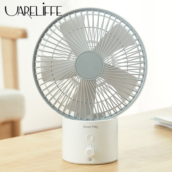 Uareliffe SmartFrog X Typhoon Fan 8 inch Portable USB Charging Air Circulation Fan 3D Wide Angle Adjustable Wind Speed Mute Wireless Fan No Limit On Gears Can Add Essential Oils For Summer