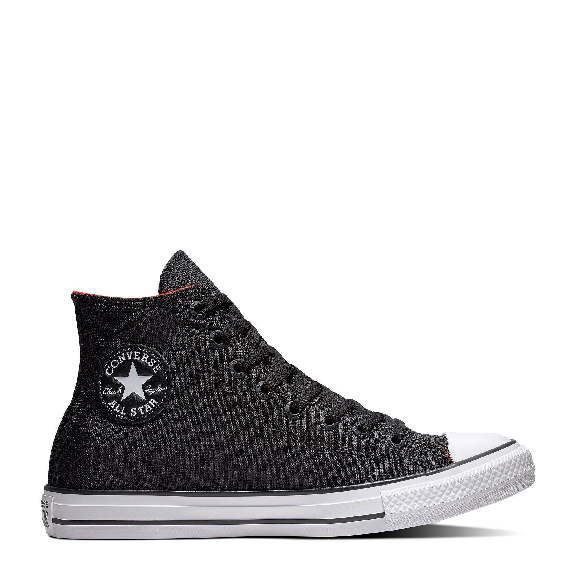 37a3fc3dcccf CONVERSE CHUCK TAYLOR ALL STAR - BLACK  ENAMEL RED  WHITE - 162390C