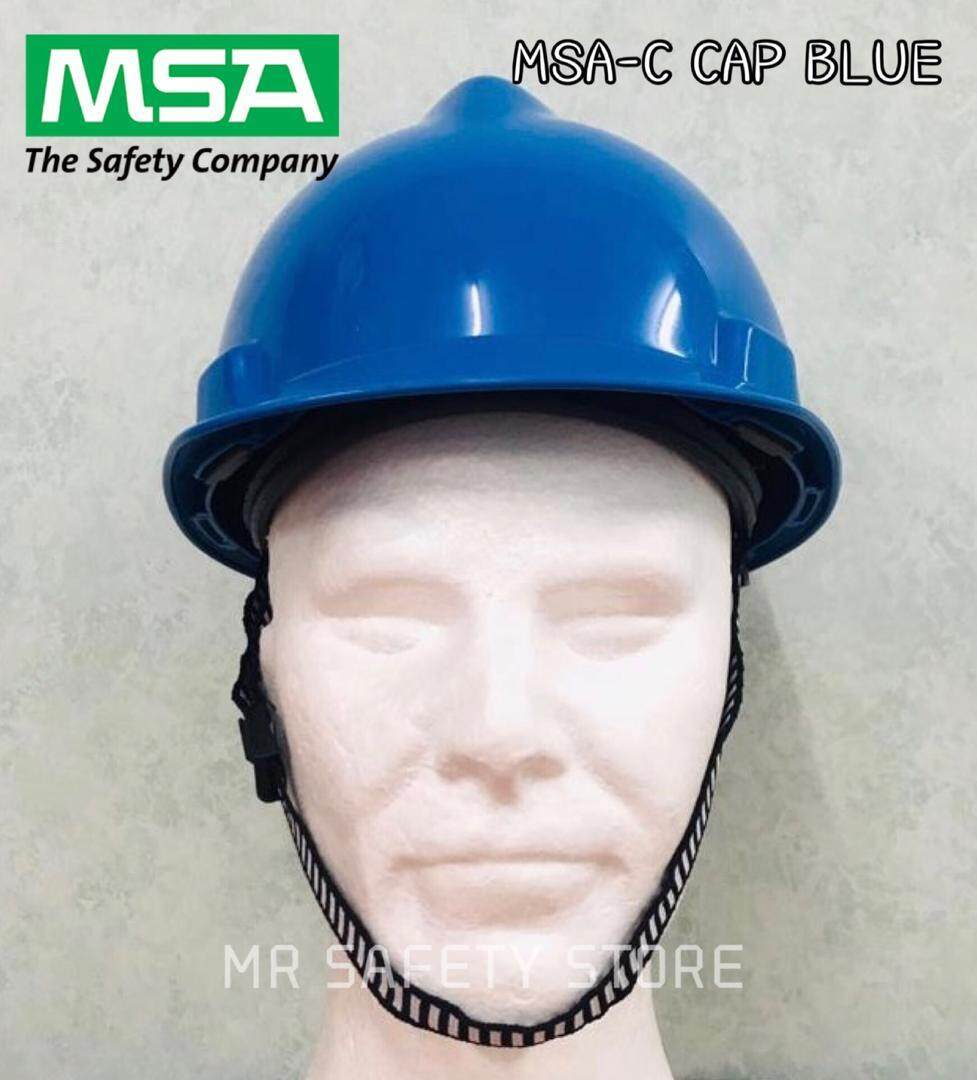 Msa V-Gard Protective Cap - Blue (original China) By Mr Safety Store.
