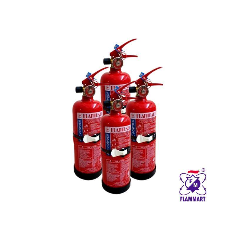 Ezspace 4 Units Flammart 1kg Fire Extinguisher Abc Dry Powder ( Sirim ) For Vehicles And Household By Ezspace.