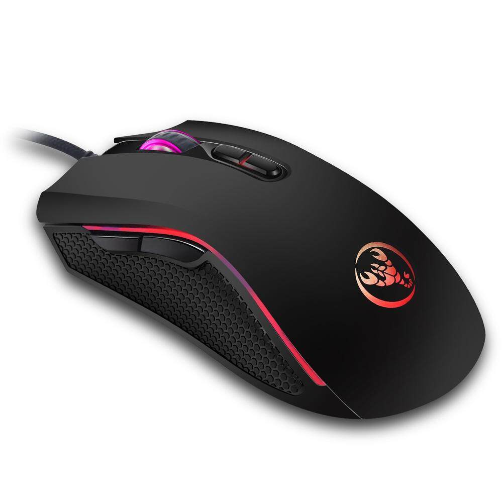 【Gold Certified】HXSJ 7 LED Backlits Gaming Mouse 1200/1600/2400/3200DPI Precise Positioning USB Gaming Mouse Malaysia