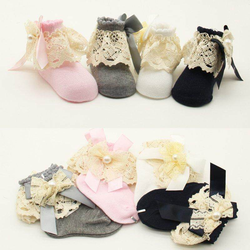 Hot Sale Newborns Socks Baby Girls Infant Princess Lace Flowers Socks By Ropalia Store.
