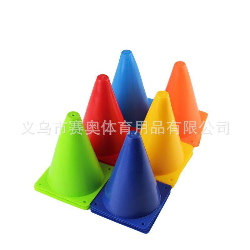 VR_Tech 6Pcs Multifunction Safety Agility Cone For Football Soccer Sportsfield Practice Drill Marking