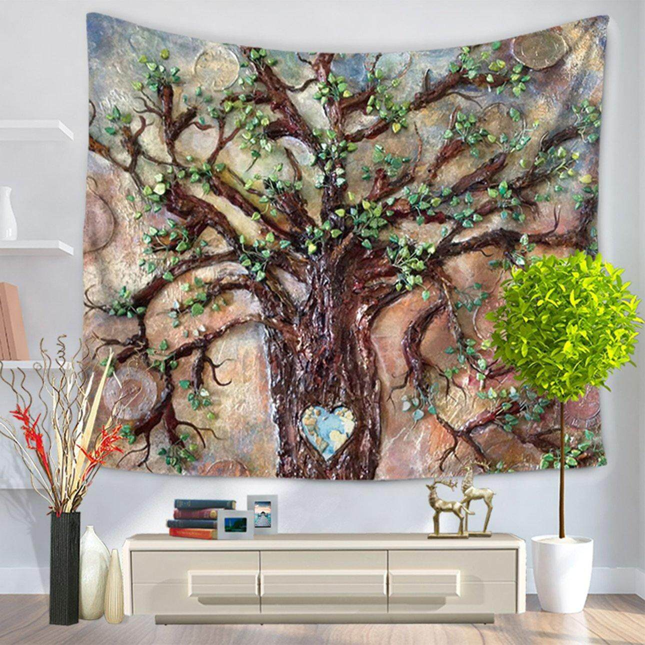 Hot Sales Handicrafts Tree Wall Hanging Tapestry Cotton Wool Ethnic Style Wall Decor