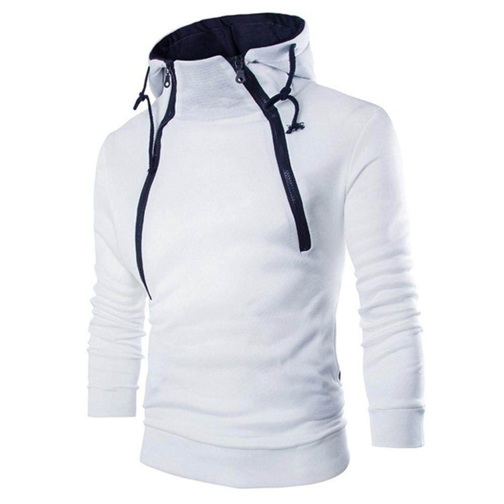 Mens Activewear,Mens Long Sleeve Patchwork Hoodie Hooded Sweatshirt Top Tee Outwear Blouse