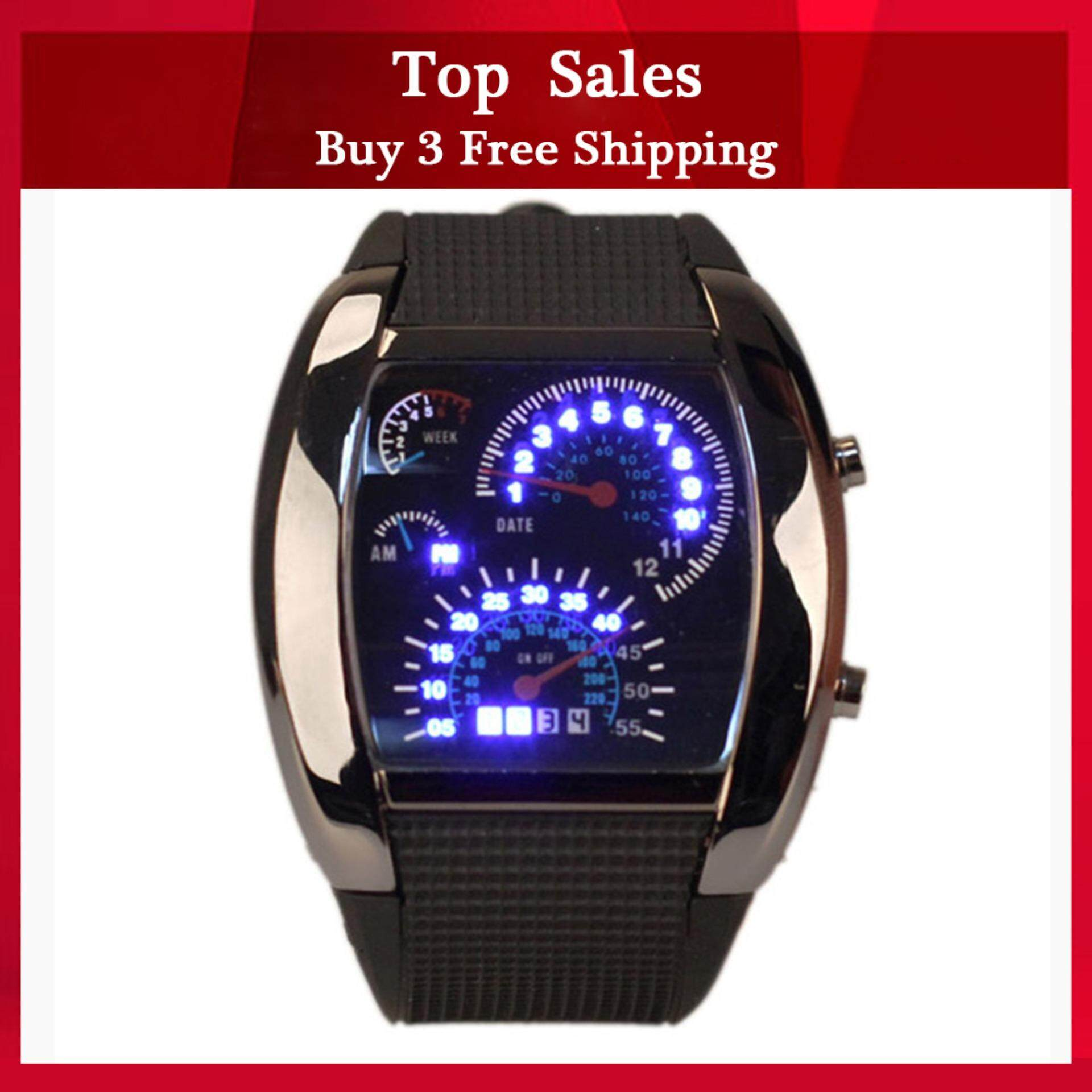 YBC LED Backlight Military Wrist Watch Sports Meter Dial Watches With Blue Light Malaysia