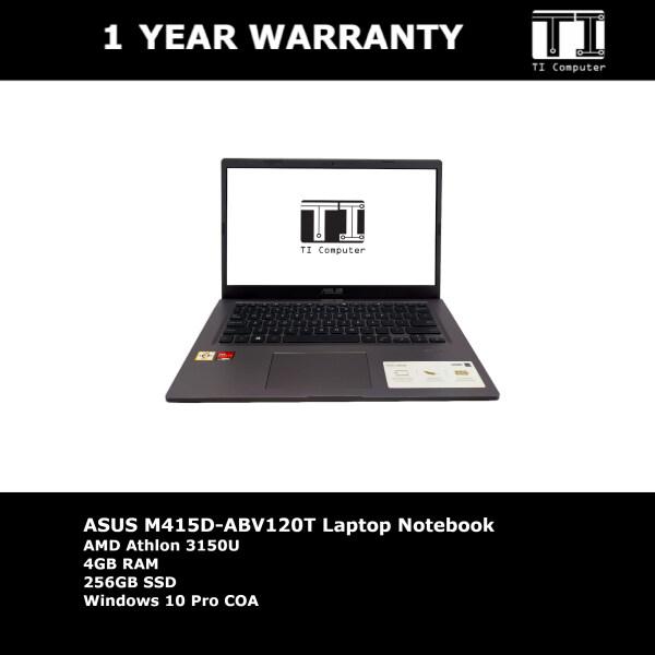 ASUS M415D-ABV120T AMD Athlon 3150U 4GB RAM 256GB SSD Laptop Notebook (Refurbished) Malaysia