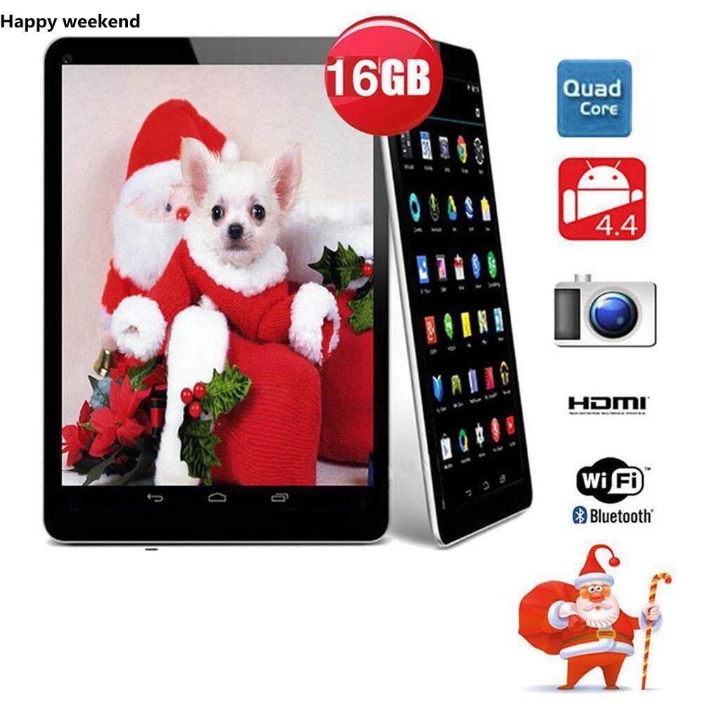 "N98 9 ""นิ้ว Android 4.4 แท็บเล็ต PC Quad Core 1GB + 16GB W/MIC US Plug White ของขวัญ"