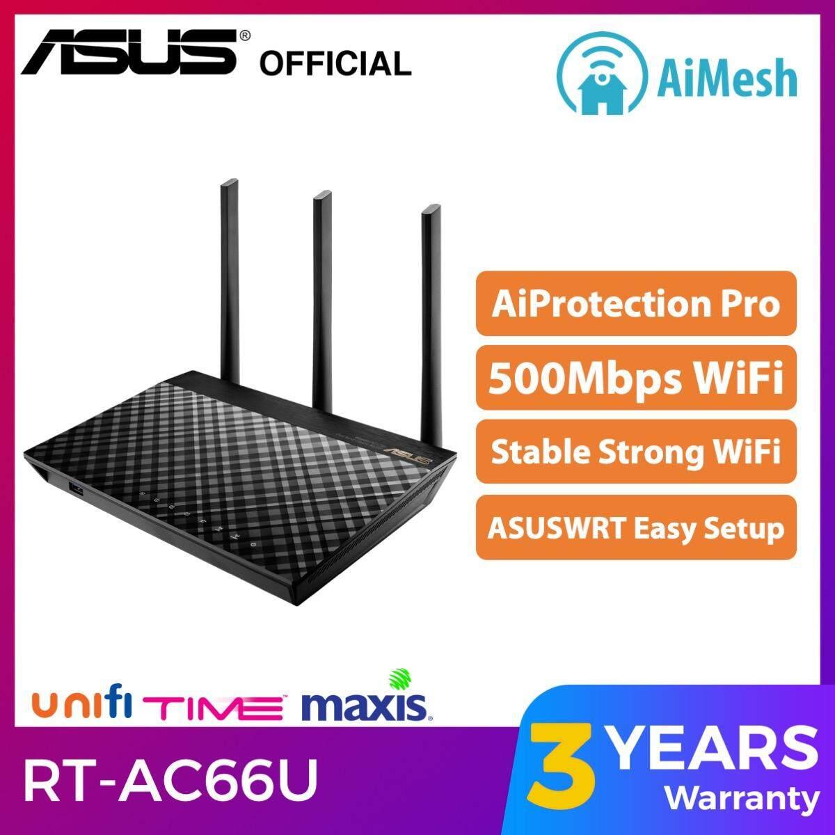ASUS RT-AC66U AC1750 AiMesh WiFi Router AC for Unifi Wireless Router RT  AC66U B1