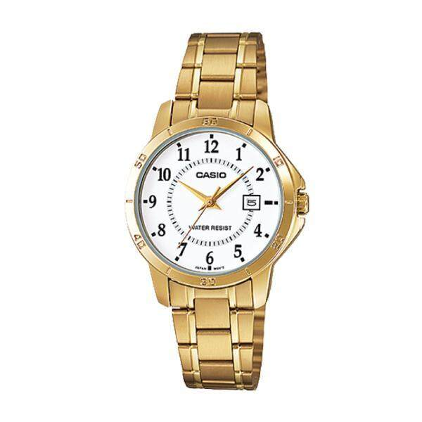 Casio Ladies Standard Analog Gold Stainless Steel Band Watch LTPV004G-7B LTP-V004G-7B (jam tangan wanita / casio watch / casio watch women) Malaysia