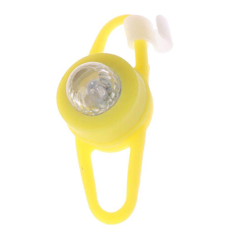 Jettingbuy Kuning Sepeda Lampu Depan Sepeda Silikon Lampu LED Kepala Bersepeda Lampu Tahan Air Int: