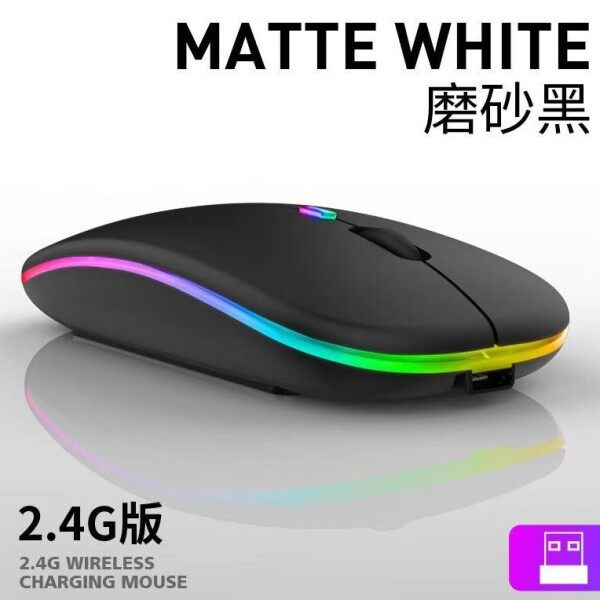 Wireless Mouse Bluetooth Mouse 2.4GHz Wireless Optical Rechargeable Wireless Mice Ultra-Thin Silent Mouse for PC/Laptop Malaysia