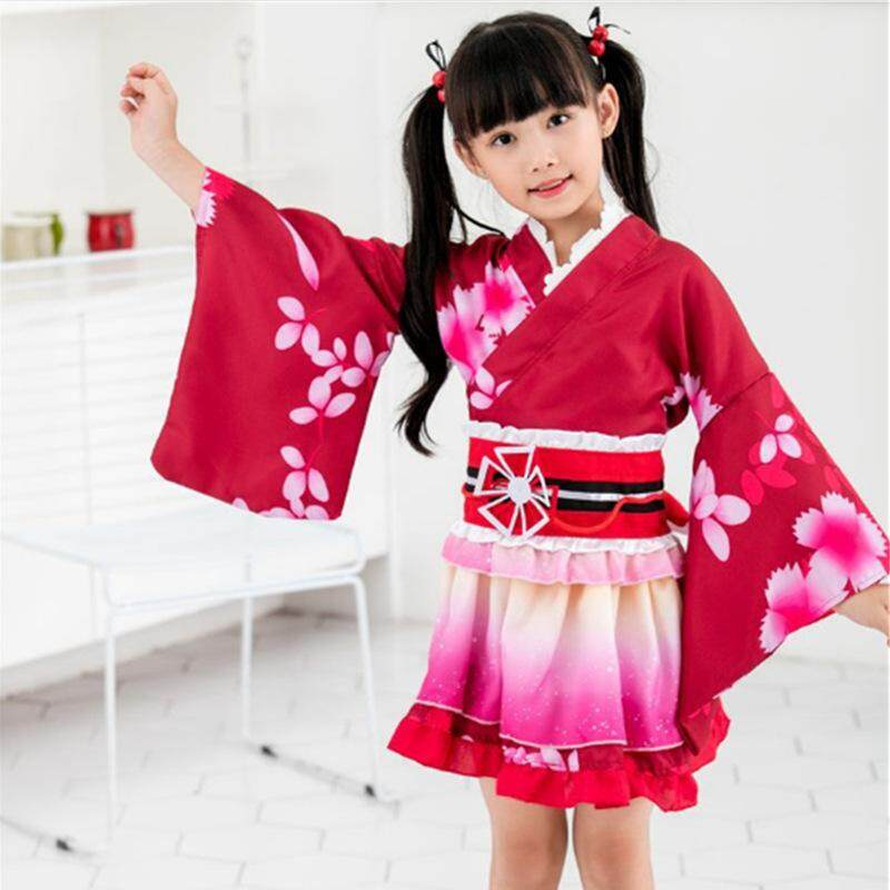 Japanese popular anime love scene! Cosplay y濑iri COS cartoon halloween party daily sweet cherry kimono women's clothing