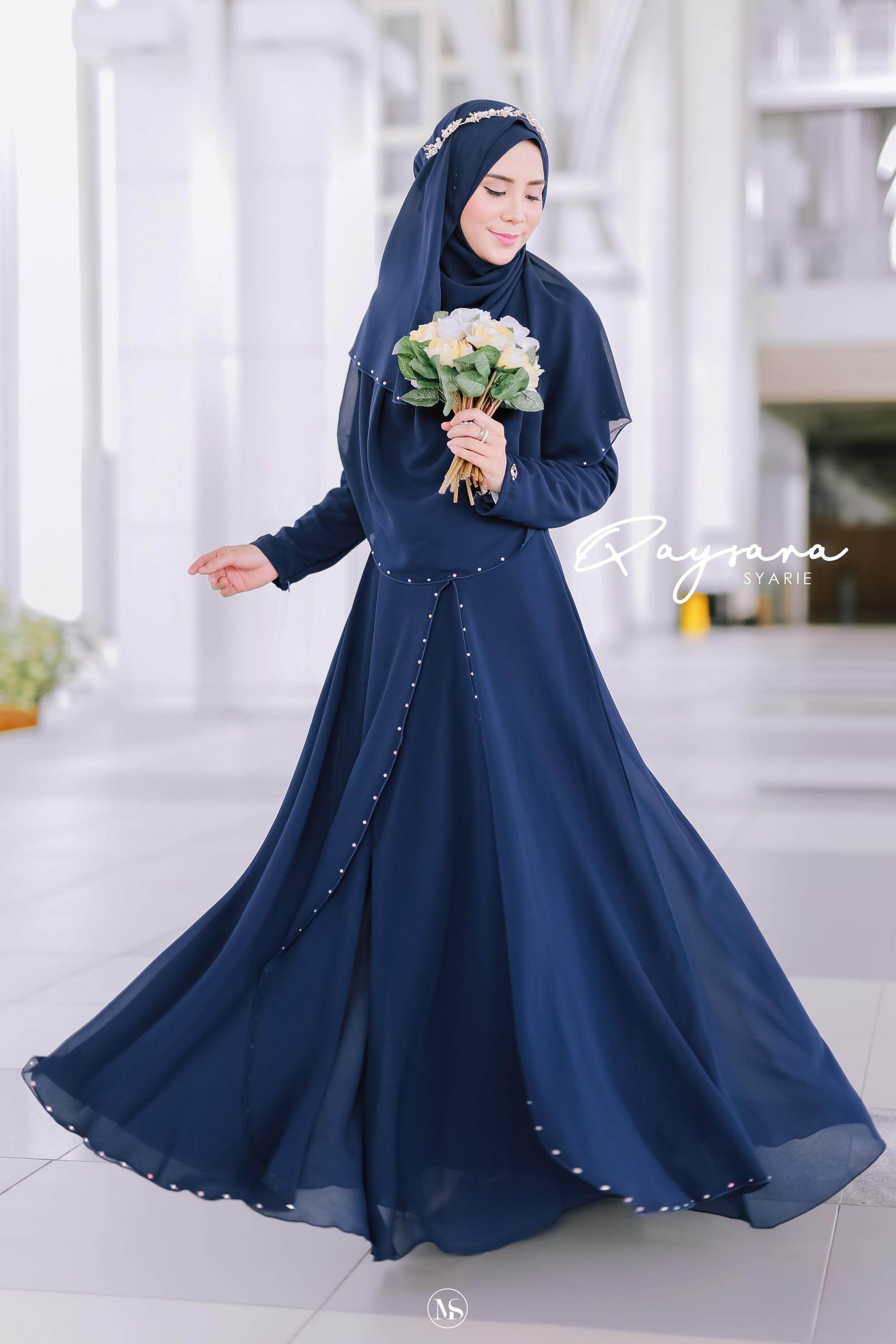 QAYSARA JUBAH TUNANG KAHWIN BAJU RAYA BRIDESMAID BAJU LABUH free tudung 122,  122 set pakaian Pengantin, BATU SWROVSKI , bridesmaid, maid in honour- others