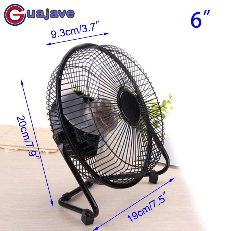 Guajave 6/8/10 Inch Brushless Electrical USB Fan 360 Degree Rotatable Ultra Silent Laptop Cooler Fans
