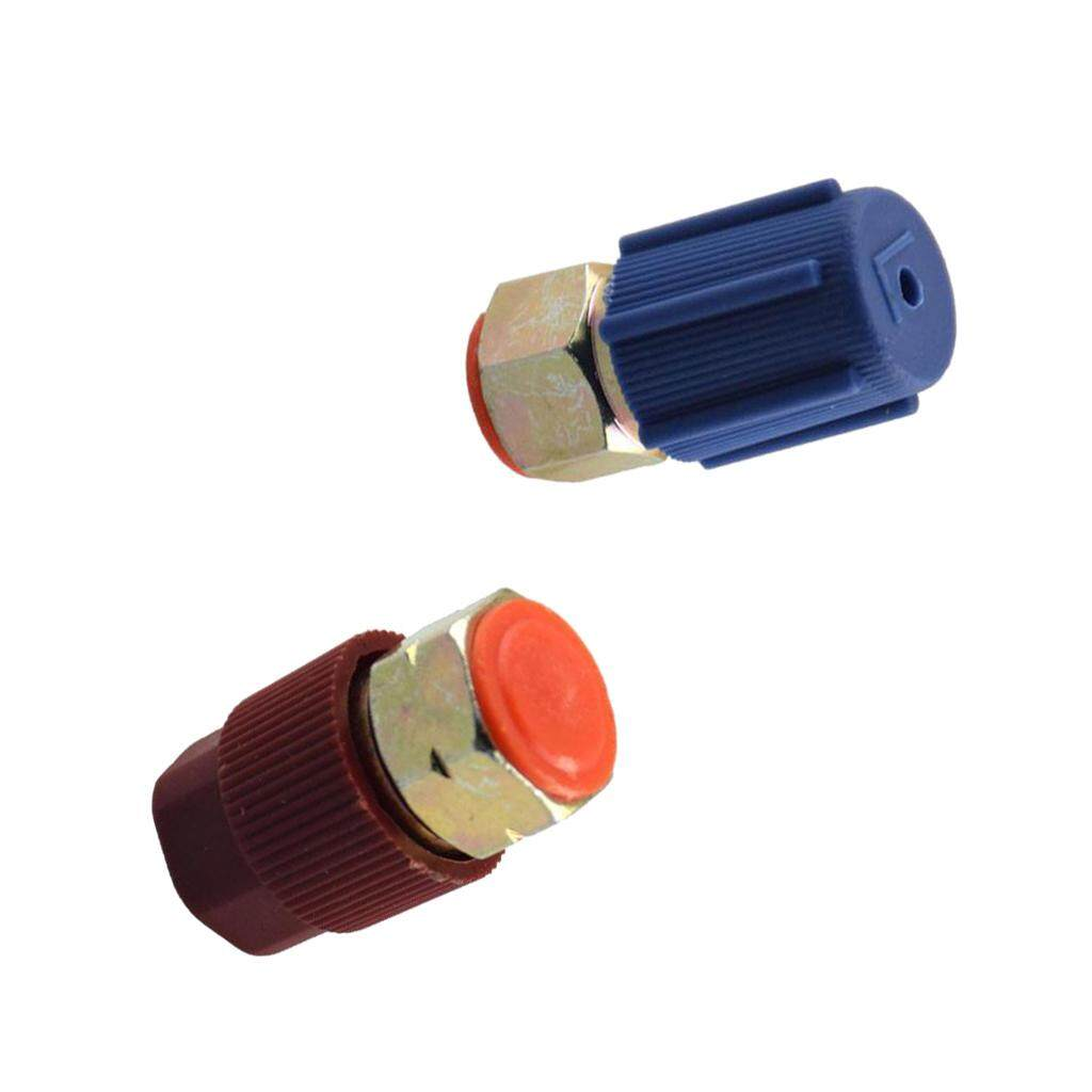 A//C High+Low Side Coupler R12 To R134a Adapter 90 degrees Quick Connector