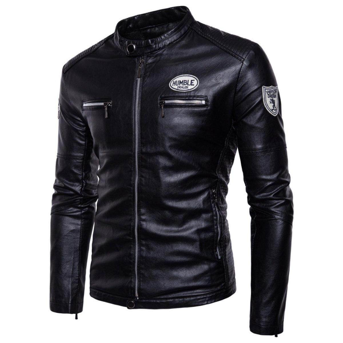 aace54cdb10 (BEST)-AliExpress trade in autumn and winter men s large size label  motorcycle male