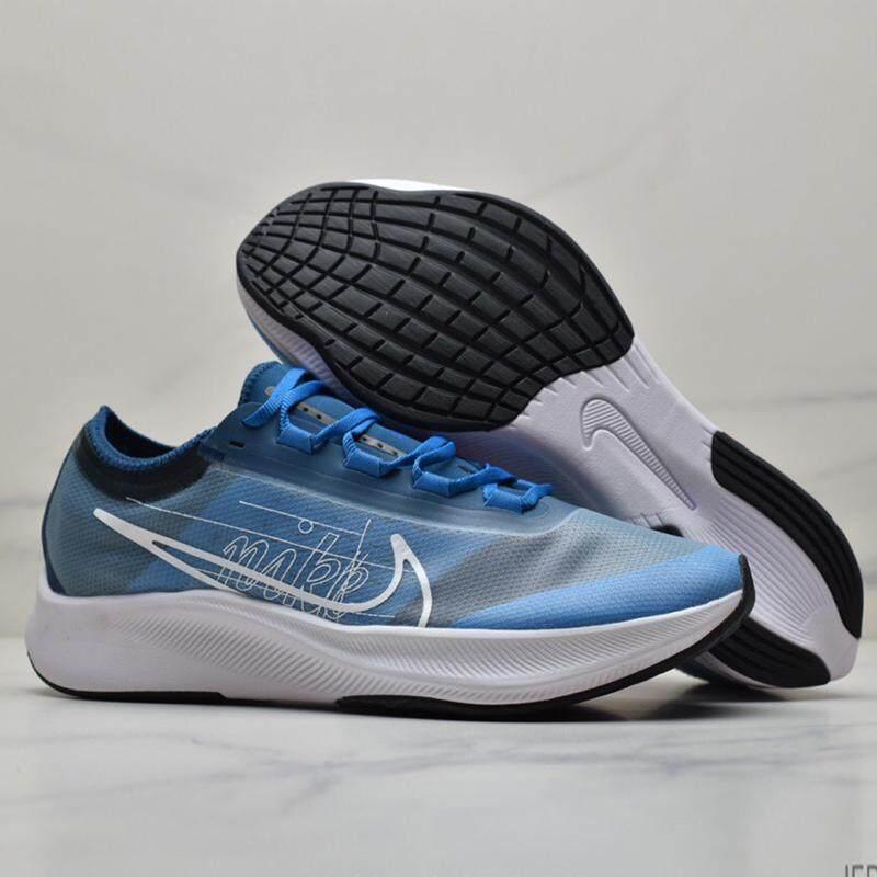 Asli NIKE_AIR Zoom FLY3 Pria Sepatu Lari Nyaman Bersirkulasi Ringan Sport Sepatu Sneaker Luar Ruangan