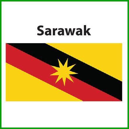 Sarawak Flag 3x6ft, Bendera Sarawak 3x6ft, Polyester