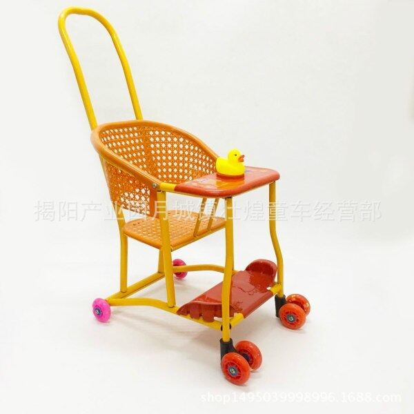 Ultra-Lightweight Chinese Traditional Imitation Rattan Baby Stroller Universal Wheel Toddler Trolly Singapore