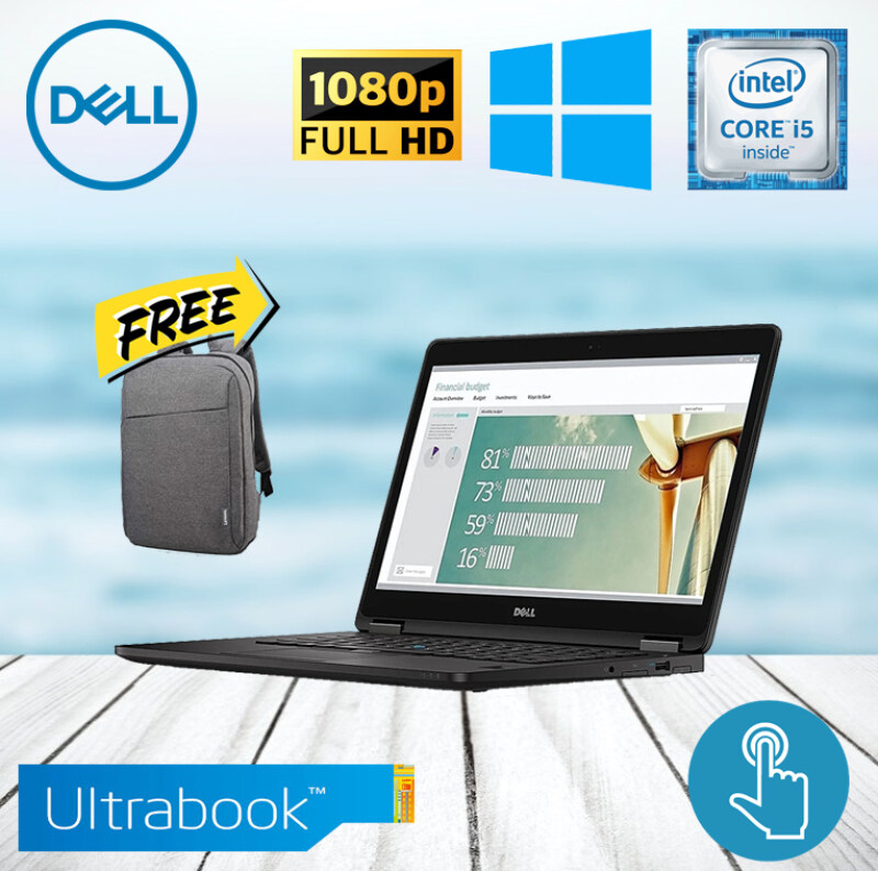 DELL LATITUDE E7270 [CORE i5-6300U / 8GB RAM / 256GB SSD] FULL HD IPS DIPSLAY / ULTRABOOK / WINDOWS 10 PRO [BOXPACKED REFURBISHED] Malaysia