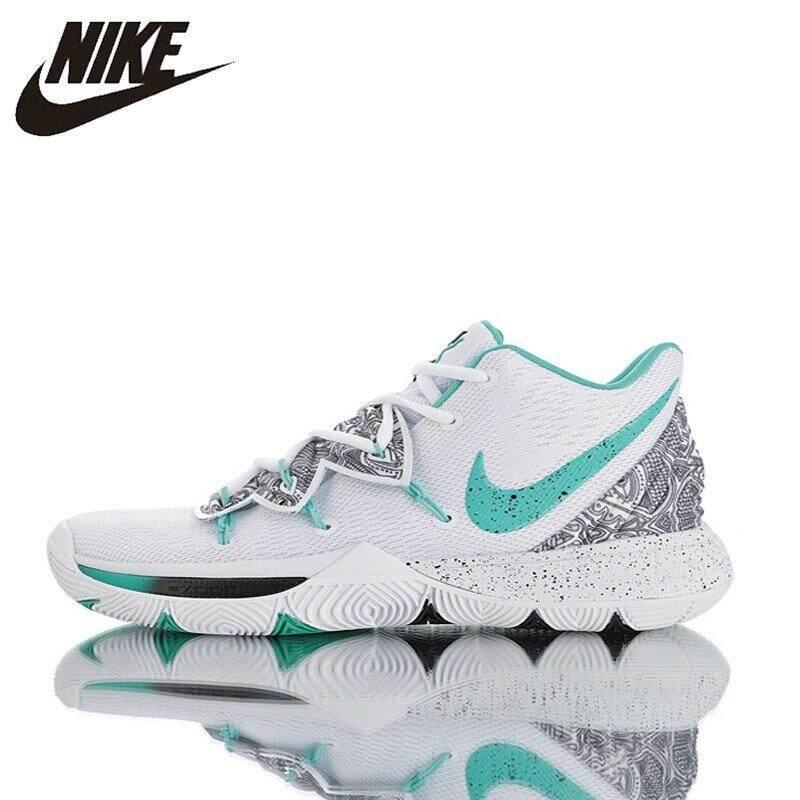 Asli Produk Baru Nike_Kyrie 5 Pria Sepatu Basket Bernapas, Non Slip dan Tahan Abrasi Bernapas AO2919-010