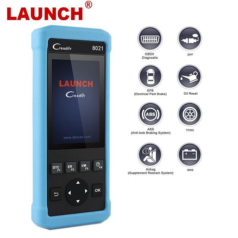 Launch CReader CR8021 OBD2 Scanner Brake System Car Diagnostic Tool DPF  Regeneration Oil Service Reset ABS SRS EPB TPMS BMS Battery Match ODB Auto