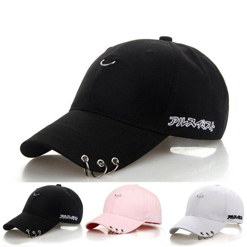 d5c251ddb4966b MomLove fashion Embroidery Cotton Hip Hop Hat Peaked Cap with A Ring Cap  Clip Ring Baseball