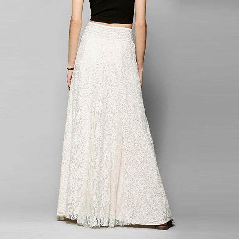 Giá bán Thời Trang Nữ Mùa Hè Ren Xếp Tầng Váy Maxi Một Dòng Đời Boho Cao Cấp Váy Dài