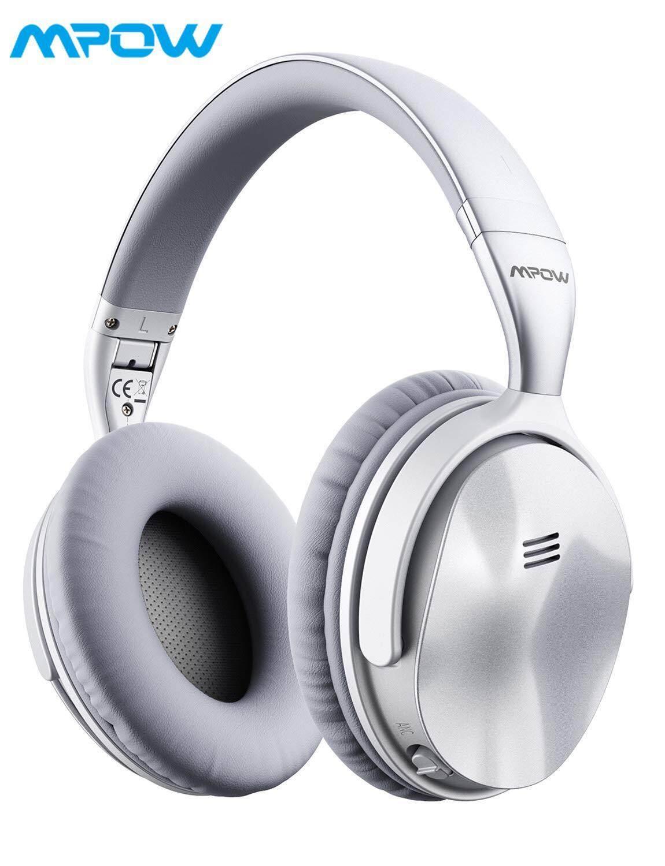de87e14c9de Mpow H5 Active Noise Cancelling Headphones, Superior Deep Bass Bluetooth  Headphones Over Ear, 30Hrs