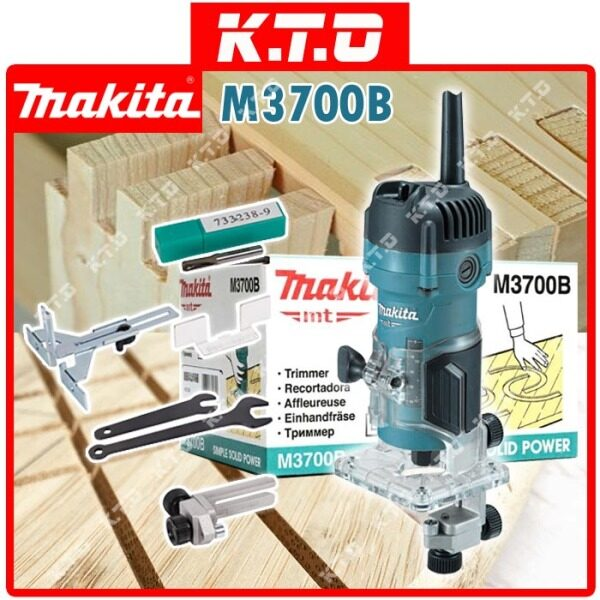 MAKITA M3700B WOOD TRIMMER ROUTER 6MM 530W ( AVAILABLE IN 3 DIFFERENT PACKAGE )