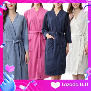Phụ nữ Thấm Hút Nước Tắm Áo Dây Chắc Chắn Bánh Quế Áo Choàng Tắm Spa Nhà Đầm Váy Ngủ thumbnail