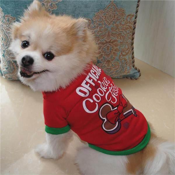 Miễn Phí Vận Chuyển Giáng Sinh Quần Áo Chó Bông T Áo Sơ Mi Quần Áo Cho Cún