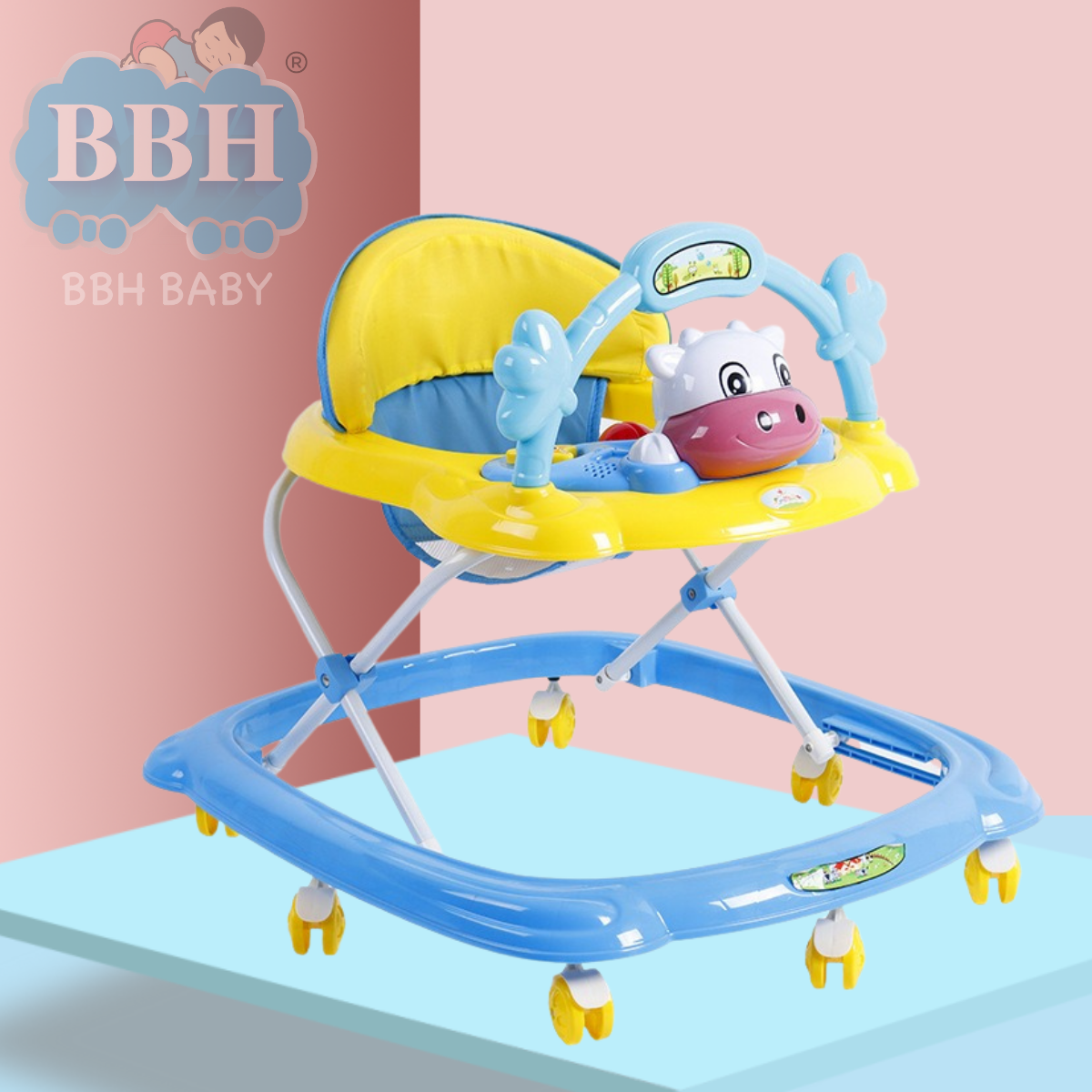 BBH 350 BABY WALKER WITH ENGLISH SONG AND FREE STOPPER