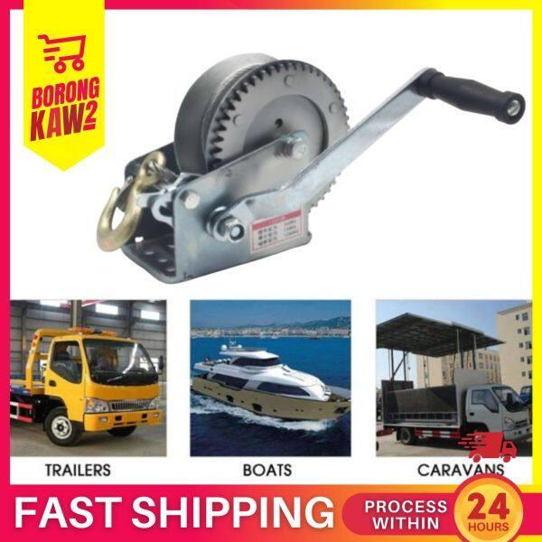 1600LB X 25 Hand Winch For Caravan Strap Length Marine Pull Boat Trailer