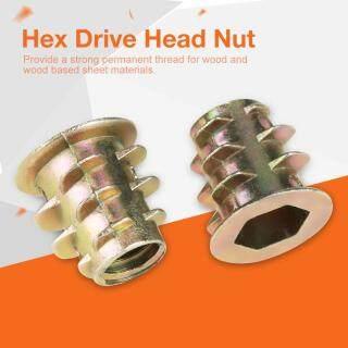 50 Chiếc M5 10Mm Hợp Kim Kẽm Hex Drive Head Nội Thất Nuts Có Ren Để Chèn Gỗ thumbnail
